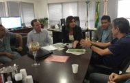 O presidente do SINDIRETA, Ibrahim Yusef esteve com a diretora da Agefis